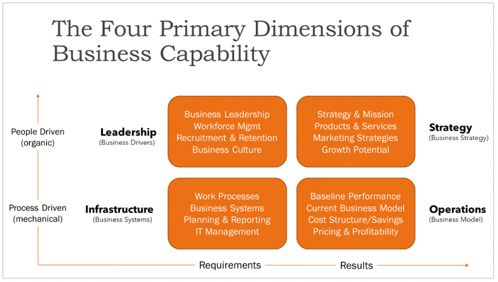 The Four Primary Dimensions of Business Capability